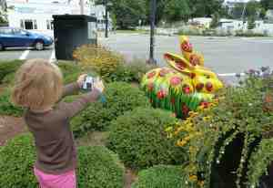 The Five-Year-Old zoomed her camera by staying in the same place, but pushing her arms out as far as they would go.