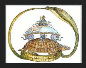 The Algonquins believed that the Earth was supported by a noble tortoise. Earthquakes happened when the tortoise shifted around to find a more comfortable position. (Image via OPUS Archives & Research Center)