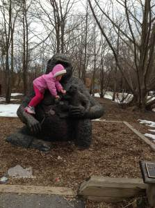 The Five-Year-Old plays gorilla. (Photo: Shala Howell)