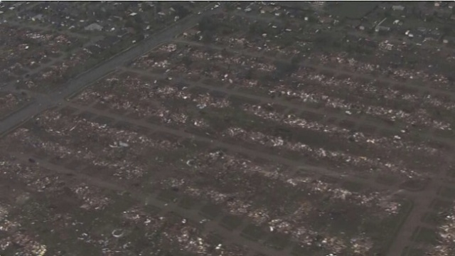 Aerial view of the devastation in Moore, OK. (Photo: KFOR)