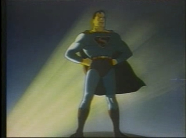 "Superman from the title sequence of the 1942 cartoon, ""The Arctic Giant."" (Public Domain)"