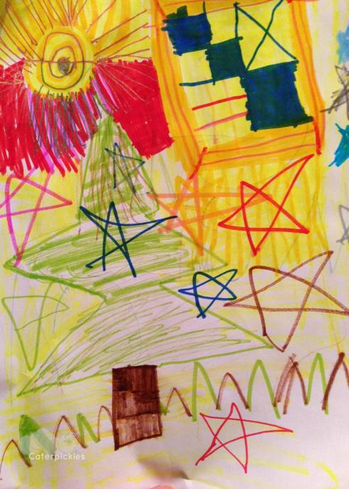The tapestry in question. (Art: The Six-Year-Old, Photo: Shala Howell)