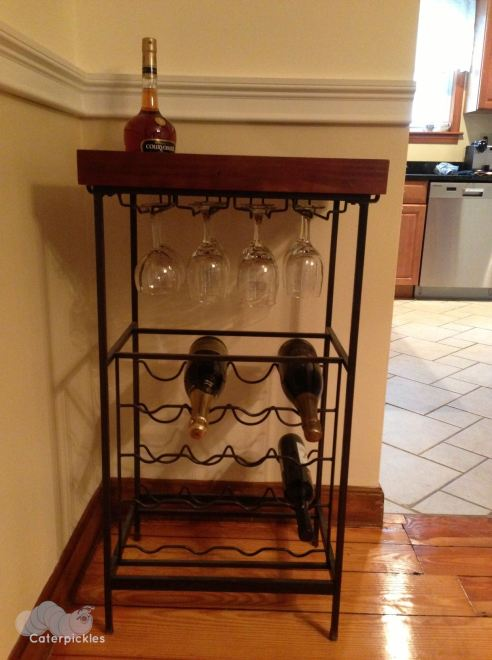 Our wine rack. As you can see, some restocking is required. (Photo: Shala Howell)