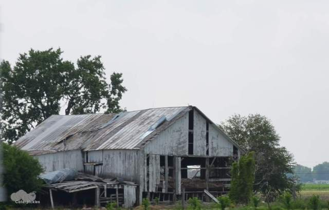 Although this incident was prompted by a barn in Pennsylvania, I was too in awe of the original decrepit old barn to actually snap a photo of it in time for this post. This classic example of a decrepit old barn comes from -- where else? -- Ohio. (Photo: Shala Howell)