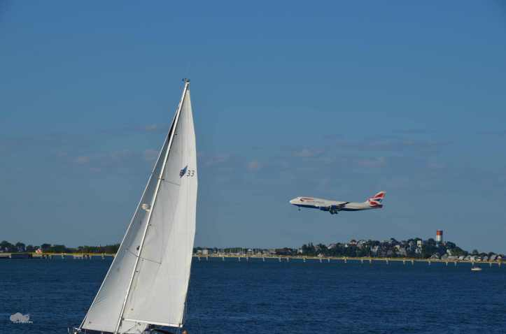 Plane landing at Boston's Logan Airport. (Photo: Shala Howell)