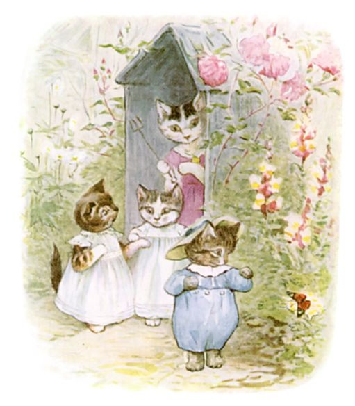 Tom Kitten and his mother by Beatrix Potter.
