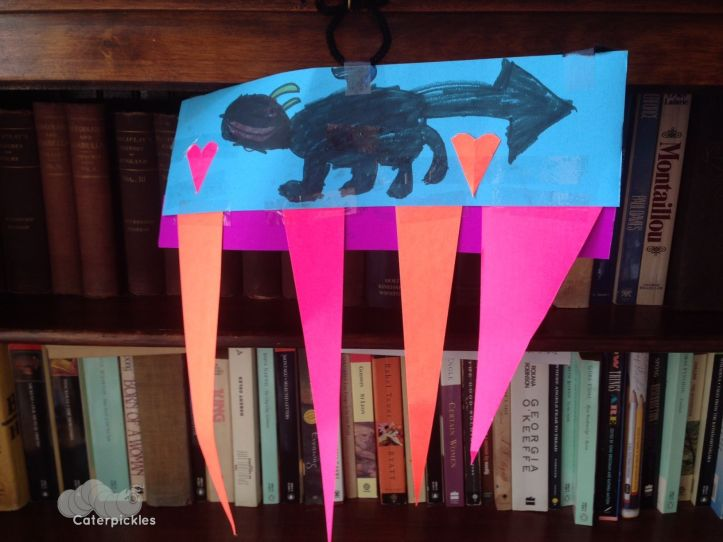 The Six-Year-Old's homage to Toothless. (Art: The Six-Year-Old)
