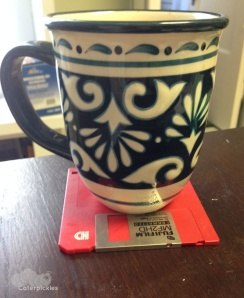 "The Seven-Year-Old, helpfully, ""Mommyo, I put your coffee cup on a coaster for you."" (Photo: Shala Howell)"