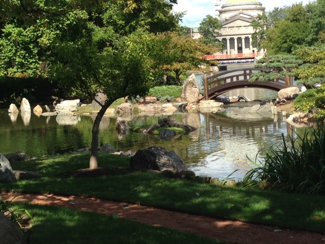 Osaka Gardens with the Museum of Science & Industry in the background. (Photo: Shala Howell)