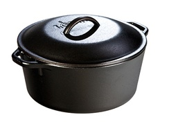 I chose the 5-Quart Lodge cast iron Dutch oven, because we love our other Lodge cast iron pots. (Photo: Lodge)