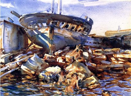 Flotsam and Jetsam by John Singer Sargent, 1908. (Image courtesy of the Portland Museum of Art in Maine)