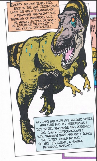 Part of the comic for the T. Rex poem by Bill Watterson.
