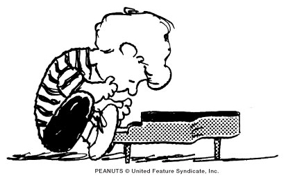 Schroeder, the piano-playing Beethoven groupie from Charles Schultz's Peanuts comic strip.