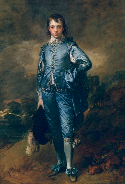 Thomas Gainsborough's The Blue Boy, painted in 1770.