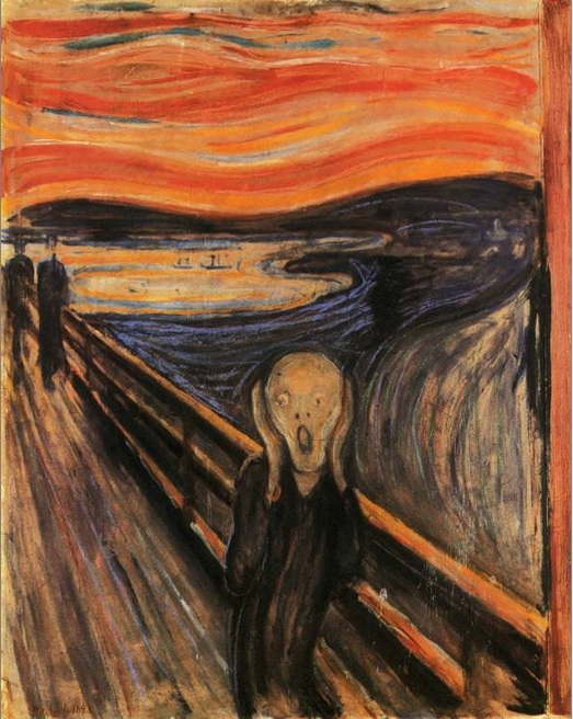 Edvard Munch, The Scream. Painted in 1893.