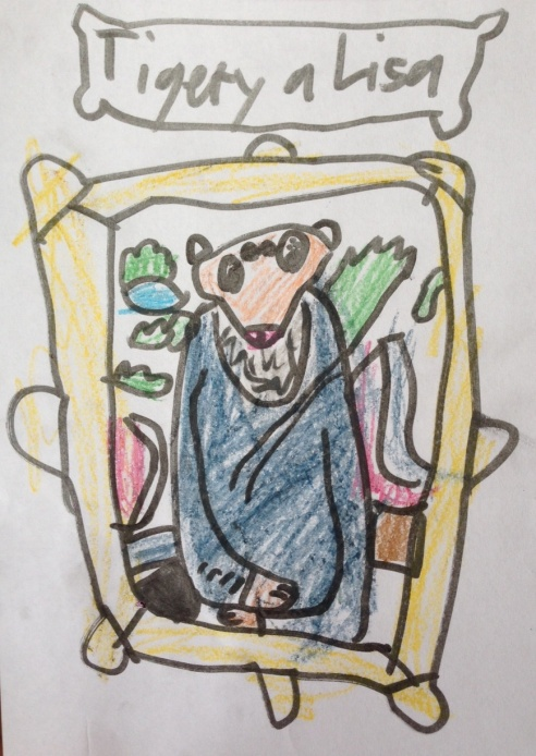 The Tigery A Lisa (Artwork: The Eight-Year-Old Howell after the Mona Lisa by Leonardo da Vinci)