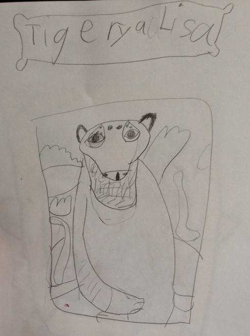 Tigery A Lisa (Artwork: The Eight-Year-Old Howell, based on Leonardo da Vinci's Mona Lisa)
