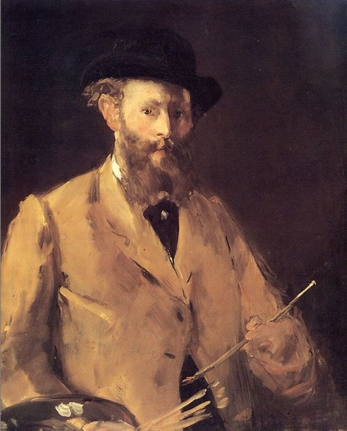 Self-Portrait with Palette by Edward Manet (1878)