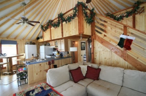 Lofts are a popular option in residential yurts. (Photo: Fortress Yurts)