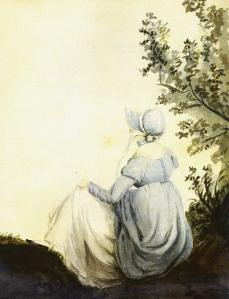 Cassandra Austen's portrait of her sister, Jane. (Image via JASNA)