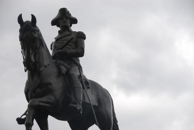 Statue of George Washington in the Boston Public Garden. (Photo: Michael Howell)