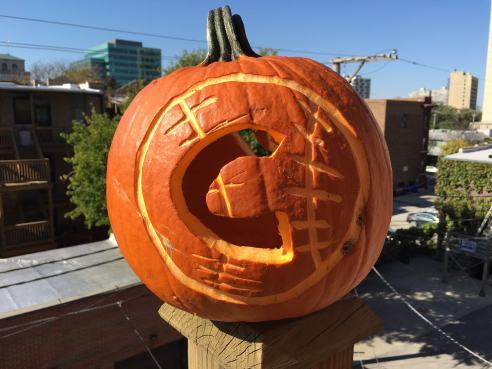 Photo: Shala Howell. Pumpkin design: The Nine-Year-Old Howell