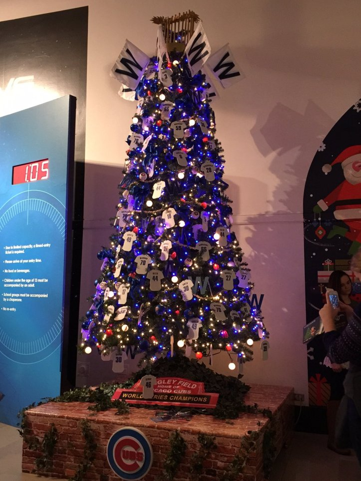 Cubs tree at the Museum of Science and Industry. (Photo: Shala Howell)