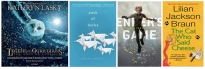 BookCovers for the four books featured in this post: Pack of Dorks, Legends of the Guardians, Ender's Game, and The Cat Who Said Cheese